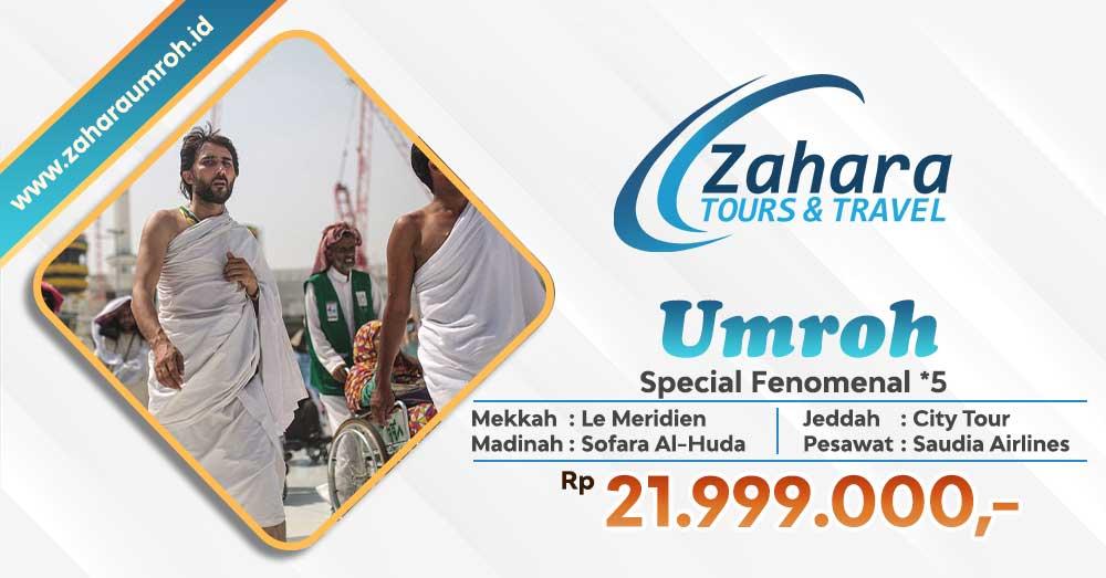 Umroh September 2020 Spesial Fenomenal Bintang 5 Zahara Tour