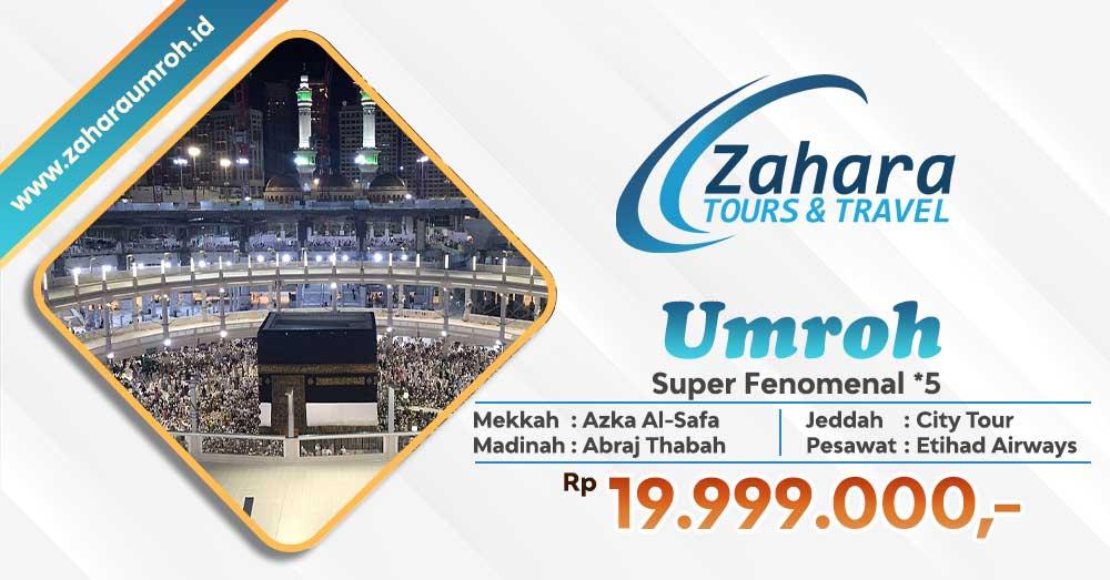 Umroh September Super Fenomenal Bintang 5 Jakarta Zahara Tour