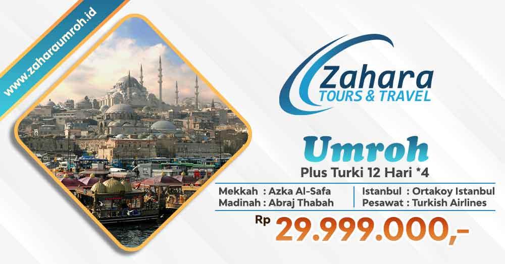 Umroh akhir tahun 2020 pls turki bintang 4 Jakarta Zahara Tour