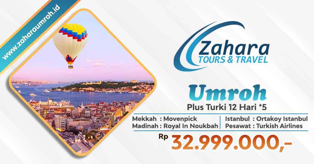 Umroh akhir tahun 2020 pls turki bintang 5 Jakarta Zahara Tour