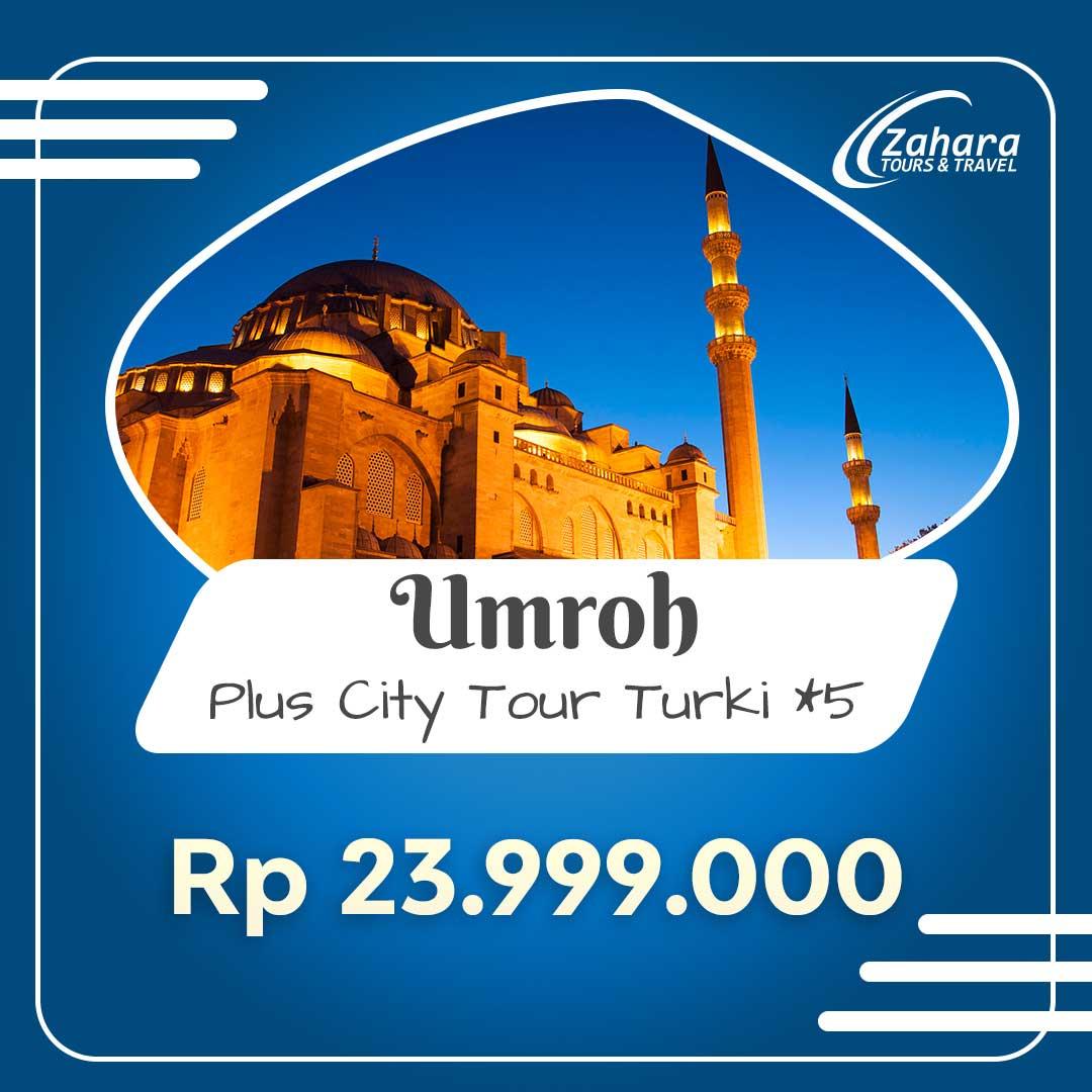 Umroh Murah City Tour Turki 2020 23jt
